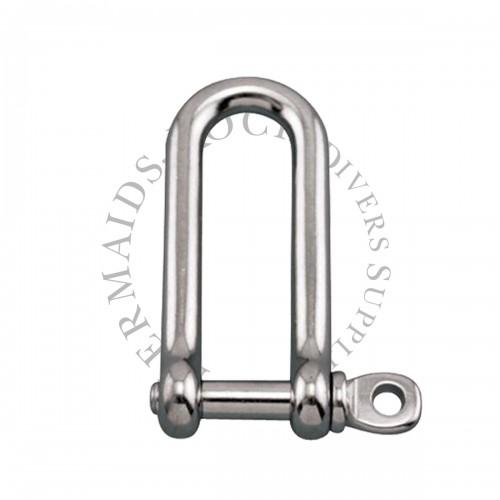 SS LONG D SHACKLE 80mm
